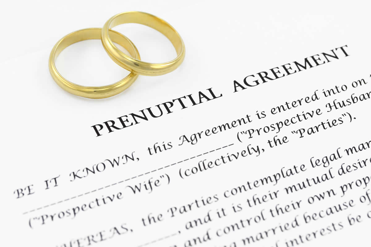 The things you cannot include in a prenuptial agreement